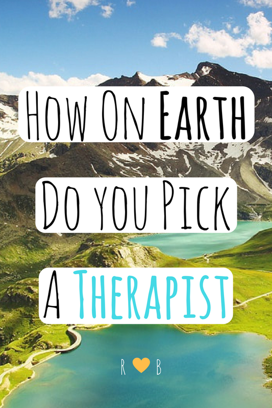 How to pick a therapist or counselor